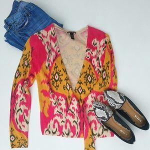 Lucky Brand Ikat Sweater Cardigan